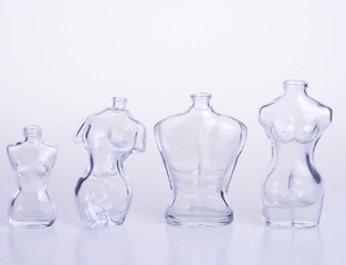 Man And Woman Shaped Glass Perfume Bottle