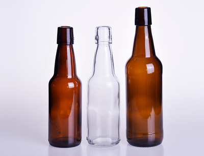 Glass Beer Bottle with Swing Top