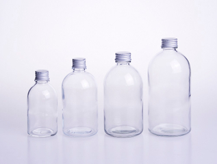 Boston Round Glass Beverage Bottle